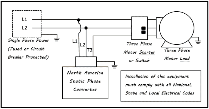 static phase converter drawing3 static phase converter electronic phase converter north american electric motor wiring diagram at mr168.co
