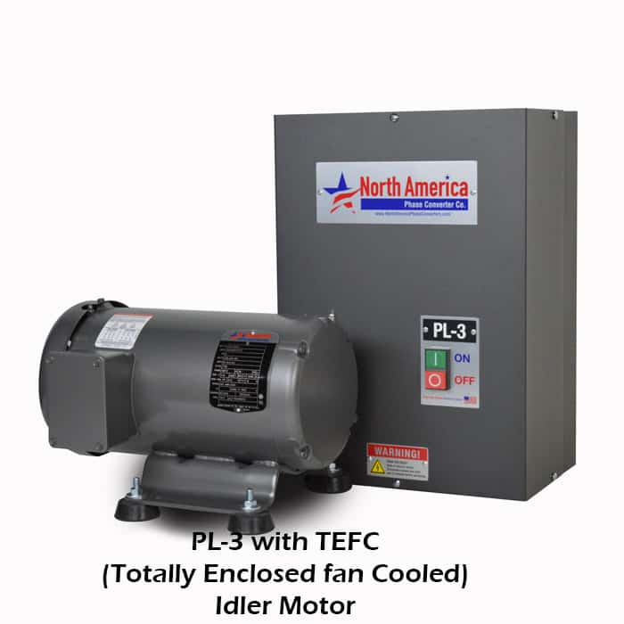 PL-3 with TEFC (Totally Enclosed Fan Cooled) Idler Motor