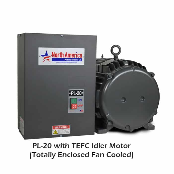 PL-20 with TEFC (Totally Enclosed Fan Cooled) Idler Motor