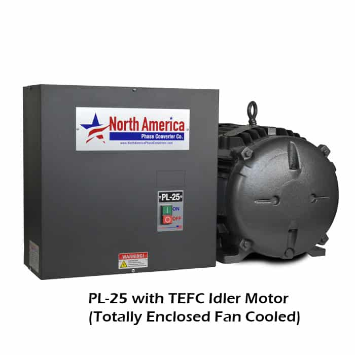 PL-25-T with TEFC (Totally Enclosed Fan Cooled) Idler Motor