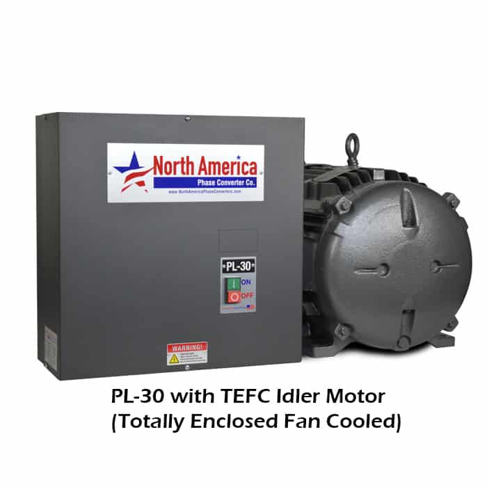 PL-30-T with TEFC (Totally Enclosed Fan Cooled) Idler Motor