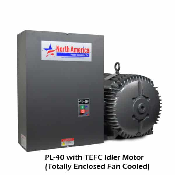 PL-40-T with TEFC (Totally Enclosed Fan Cooled) Idler Motor
